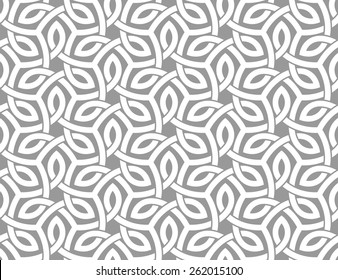 Seamless pattern with intersecting stripes. Curving overlapping bands