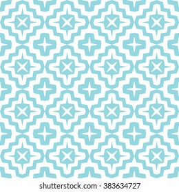 Seamless pattern with intersecting stripes on background. Abstract lattice in Arabic style with stars and polygons.