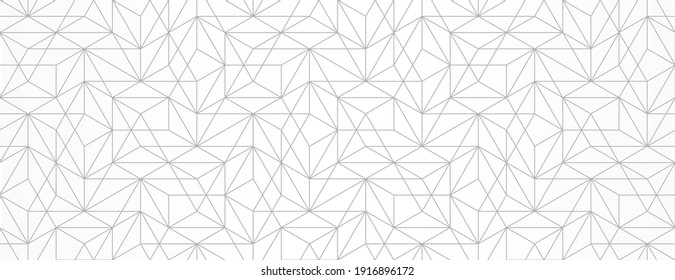 Seamless pattern with intersecting thin lines. Vector monochrome geometric abstract background. Trendy Decorative diamond jewelry texture. Abstract ornament for fabric, textile and wrapping.
