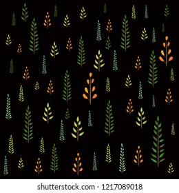 seamless pattern isolated on black background