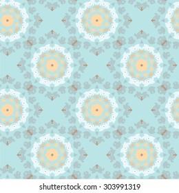 seamless pattern with kaleidoscope