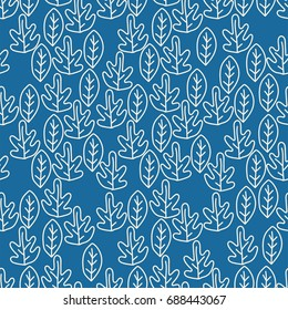 seamless pattern leaf art background fabric texture decor wallpaper