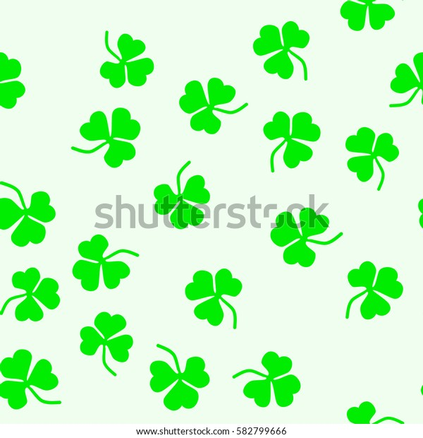 Seamless pattern of leaf clover. St.Patrick s Day. Vector illustration.