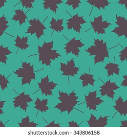 Seamless pattern with leafs. Illustration.