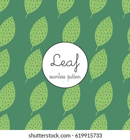 A seamless pattern of leafs for textiles and backgrounds