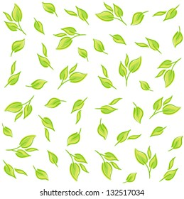 Seamless pattern with leaves. Background for your design wallpapers, pattern fills, web page, surface textures