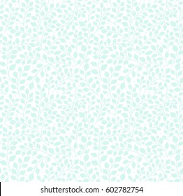 Seamless pattern with leaves. Branches and leaves. White background. Cute pattern with leaves. Floral endless pattern plants. Elegant the template for fashion prints. Vector texture