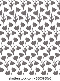 Seamless pattern with leaves. Flowers vector illustration. Background for poster or cover. Figure for textiles.