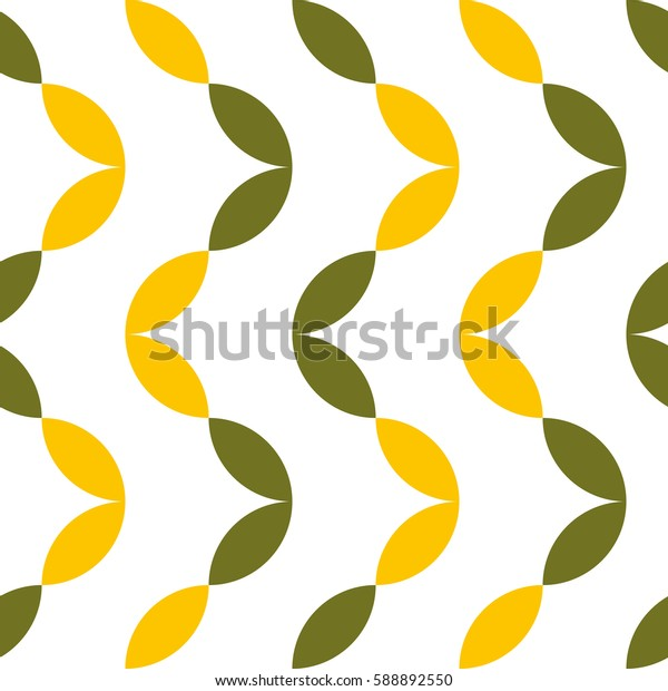 Seamless pattern with leaves. Vector art.