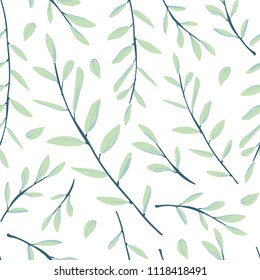 Seamless pattern with leaves. Seamless vector background for modern and original textile, wrapping paper, wall art design