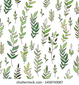 Seamless pattern with leaves. Vector EPS 10.