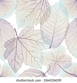 Seamless pattern with leaves.Vector illustration.