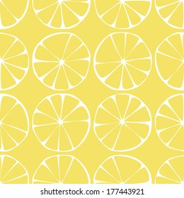 seamless pattern ,lemon background with yellow and white elements, geometric design, vector illustration