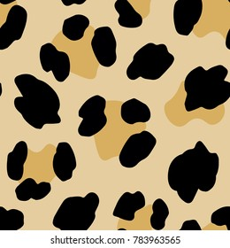 Seamless Pattern With Leopard Stains. Vector Illustration.