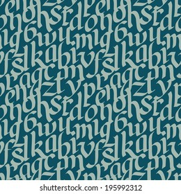Seamless pattern with letters. Vector illustration