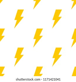 Seamless pattern with lightning bolt. Vector