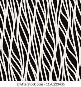 Seamless pattern with linear waves. Endless stylish texture. Ripple repeating background. Natural stylized veins. Can be used as swatch for illustrator.