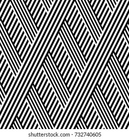 seamless pattern with lines black and white in zigzag