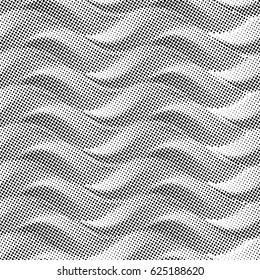 Seamless pattern, lines, wave,sand,leaves,plaster,.Geometric Halftone pattern.Vector illustration.
