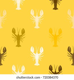 Seamless pattern with  lobster for your design