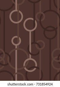 Seamless pattern of loops and lines in Brown from the Material Design palette