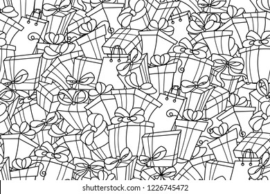 Simple Christmas Coloring Pages Stock Vectors, Images ...