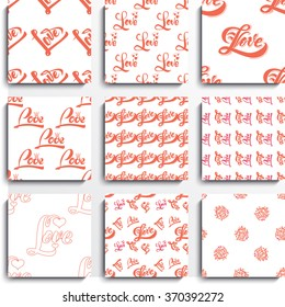 Seamless pattern, love heart can be used for wrapping paper, fabric and design