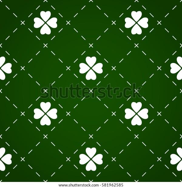 Seamless pattern made from cloverleaf