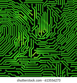 Seamless pattern made from printed circuit