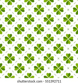 Seamless pattern made from shamrocks