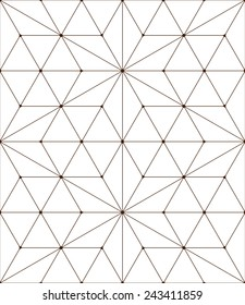 Seamless pattern made from triangles