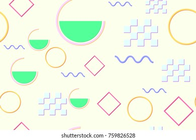 Seamless pattern in the Malevich style