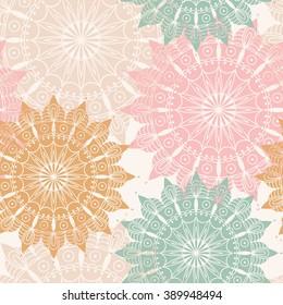 Seamless Pattern With Mandala Design Element For Art