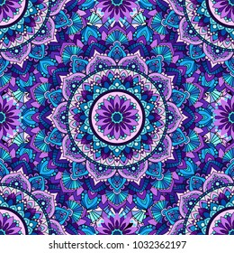 Seamless pattern of mandala purple.Seamless pattern of mandala purple. For design backgrounds.
