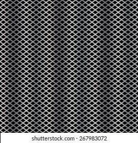 Seamless pattern of metal mesh; Vector file