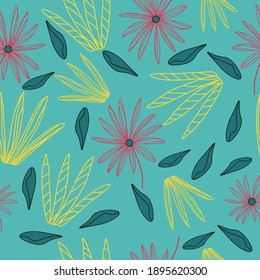 A seamless pattern with modern shells for textile, wrapping paper, wallpaper. Vector, EPS10