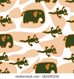 Seamless pattern with mola elements