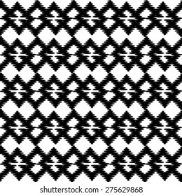 Seamless pattern. Monochrome ornament. Vector repeating texture