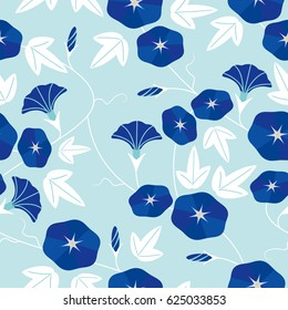 Seamless pattern of morning glory