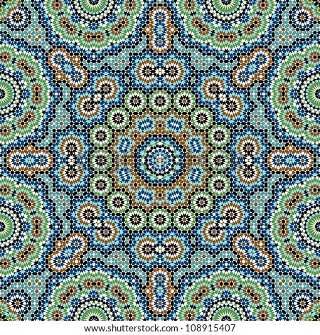 Seamless Pattern Moroccan Style Mosaic Tile Stock Vector Royalty