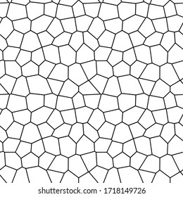 Seamless pattern. Mosaic, cellular structure. Vector design.