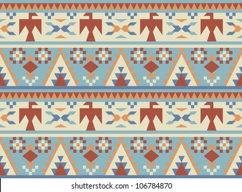 Seamless pattern in native American style #2