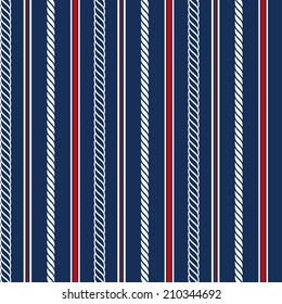 Seamless pattern with nautical elements. Vector illustration