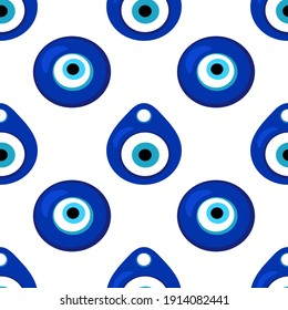 Seamless pattern with Nazar amulet for your project
