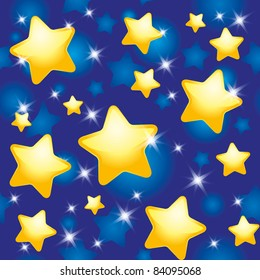 seamless pattern with night sky and stars