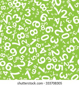 Seamless pattern with numbers for school design.