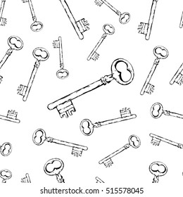 Seamless pattern - Old keys