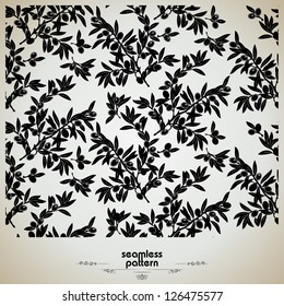 seamless pattern with olive branches