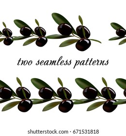 Seamless pattern from olives.