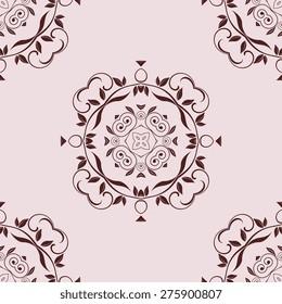 Seamless pattern on background. Wallpaper pattern